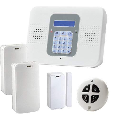 SecuPlace Risco ELKITLITE Alarmanlage für Einbrecher, kabellos, WLAN + Smartphone-App