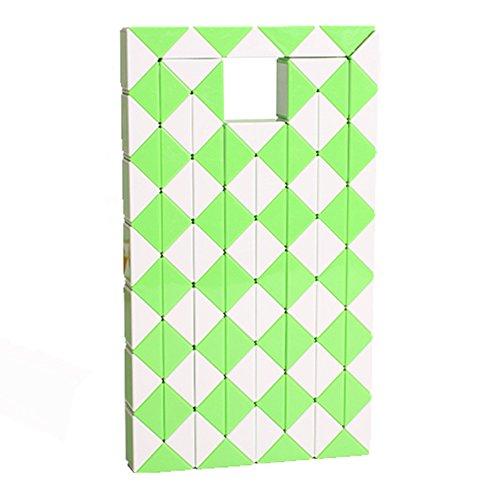 MZStech Magische slang Twist puzzel Twisty Toy Collectie 108 Wedges Magische liniaal(Groen)