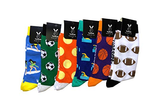 TwoSocks Football Socks Men & Women medias divertidas y divertidas como regalo, algodón, talla única (baloncesto)