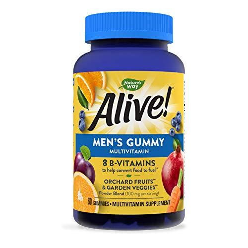 Nature's Way Alive! Men's Gummy Multivitamin, B-Vitamins,...