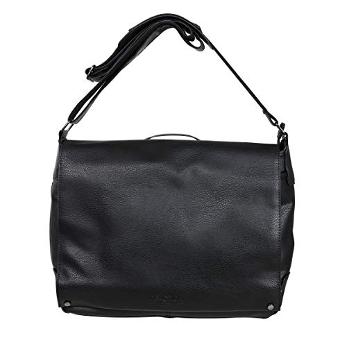 Kenneth Cole REACTION Unisex's New Dilemma Messenger Bag, Black, M