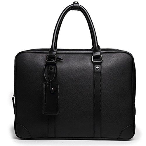 """Style Leder Aktentasche Männer lässig 14\"""" Laptop Halter Tasche Herren Crossbody Schulter Business Tasche"""