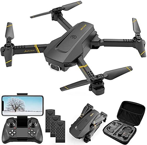 4DRC ドローン1080P 高画質HDカメラ200g未満 WI-FI FPVリアルタイム航空写真 収納ケース付き バッテリー3個付きおよび 飛行時間54分 初心者 小型折りたたみドローン ヘッドレスモード 3Dフリップ 高度維持 日本語の取扱説明書 2.4GHz 国内認証済み