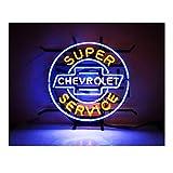 Chevrolot Neonlicht Leuchtreklame Bier Bar Pub Garage Zimmer Barlicht Lichtwerbung 40×40CM