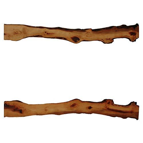 Tisch-Dekoauflage aus Birnbaumholz (Maße in cm, ca.: L x B x H = 100,5 x 7,8 bis 13,0 x 1,9) (Artikel-Nr: H-1-7)