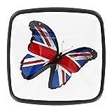 Tiradores cajón cristal 4 piezas perillas gabinete,Bandera británica mariposa volando ,para puerta cocina escritorio tocador