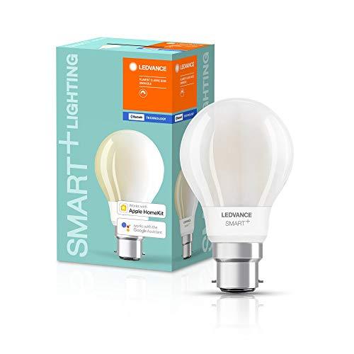 LEDVANCE Smart lampe LED avec Bluetooth, B22d, dimmable, blanc chaud (2700K), remplace les lampes à incandescence de 60W,contrôlable avec Google Alexa et Apple HomeKit,SMART + BT Filament Dim,1-pack