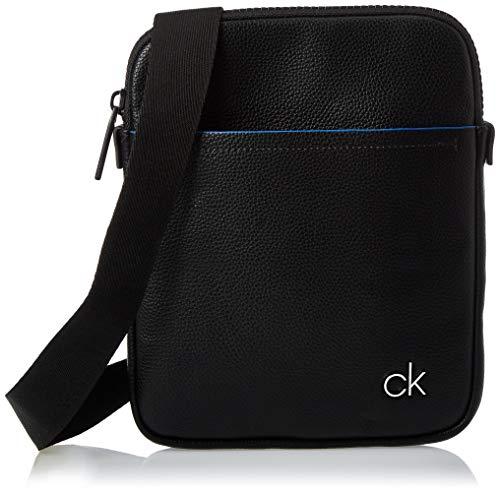 Calvin Klein Herren Ck Direct Flat Crossover Schultertasche, Schwarz (Black), 25x20x3cm
