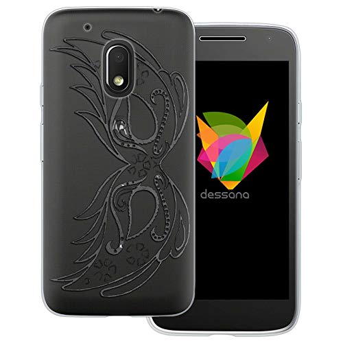 dessana rook transparante beschermhoes mobiele telefoon case cover tas voor Motorola, Motorola Moto G4 Play, Carnaval Venetië