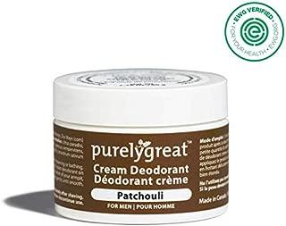 Men's All Natural Deodorant | Aluminum Free Deodorizer | Long Lasting Deodorant Cream | EWG Verified, Vegan, Cruelty-Free, No Aluminum, No Parabens, BPA Free | Essential Oils (Patchouli Scent)
