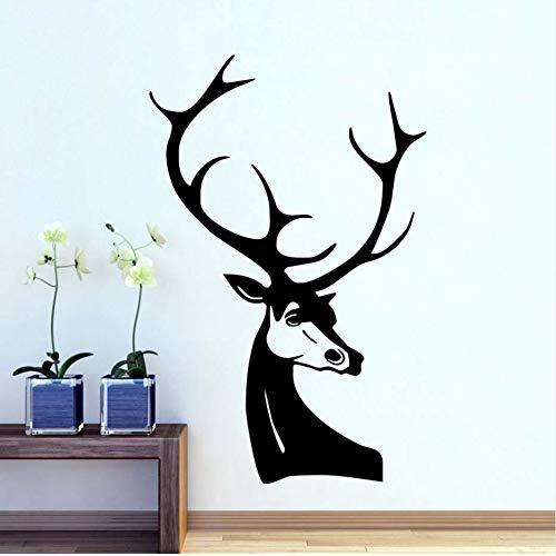 Hllhpc muursticker hertenkop, vinyl, zelfklevend, modern, afneembaar, sjabloon, ramen, deur, decoratie