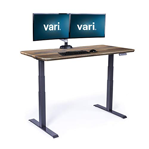 Vari Electric Standing Desk 60' x 30' - Dual Motor Sit to Stand Desk - Push Button Memory Settings -...