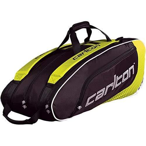 Dunlop Badmintontasche Carlton Pro Player 3 Pockets Thermo Bag, Gelb-Schwarz, One size