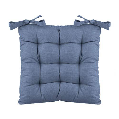 Cuscino sedia quadrato blu Basik in cotone, 40x40 cm Verde Militare