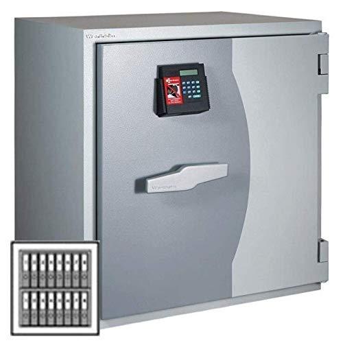 Wertheim Wertschutzschrank DWS0850KB, 2 x Doppelbartschloss umstellbar (mit je 1 Schlüsselträger, 2 Schlüsselbärte), Grad 4KB nach EN 1143-1, H84.8xB81xT72.5 cm, 875 kg