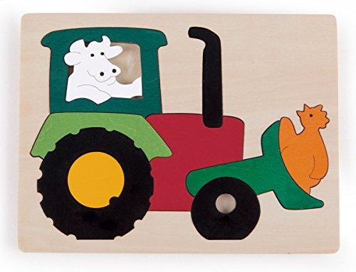 Hape - E6507 - George Luck - Puzzle - Tracteur - 11 pièces