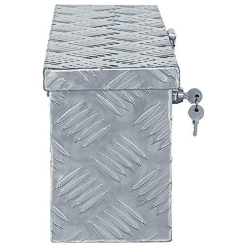 vidaXL Aluminiumkiste Silbern Alubox Aluminiumbox Transportkiste Alukoffer - 2