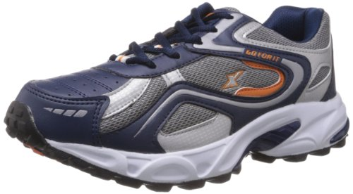 Sparx Men's Navy Blue and Orange Synthetic Running Shoes - 6 UK (SM-171)