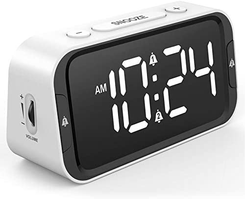 Easy to Set Small LED Digital Alarm Clock for Bedroom Simple Bedside Alarm Clock with 65 90dB product image