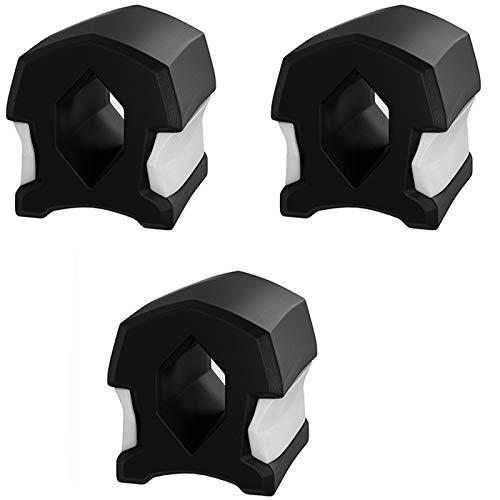 XIGU 3 PCS par Pack Exerciseur JawLine Jaw Training Massoit Entraîneur Jaw Sculpteur Outil en Forme de Chew Chew Exercice de Menton, entraîneur de Conditionnement physiqu Black 50lbs