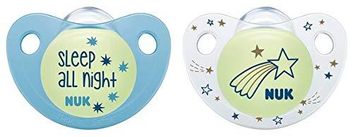 Nuk Trendline Night & Day fopspeen met lichteffect 18 – 36 maanden. blauw