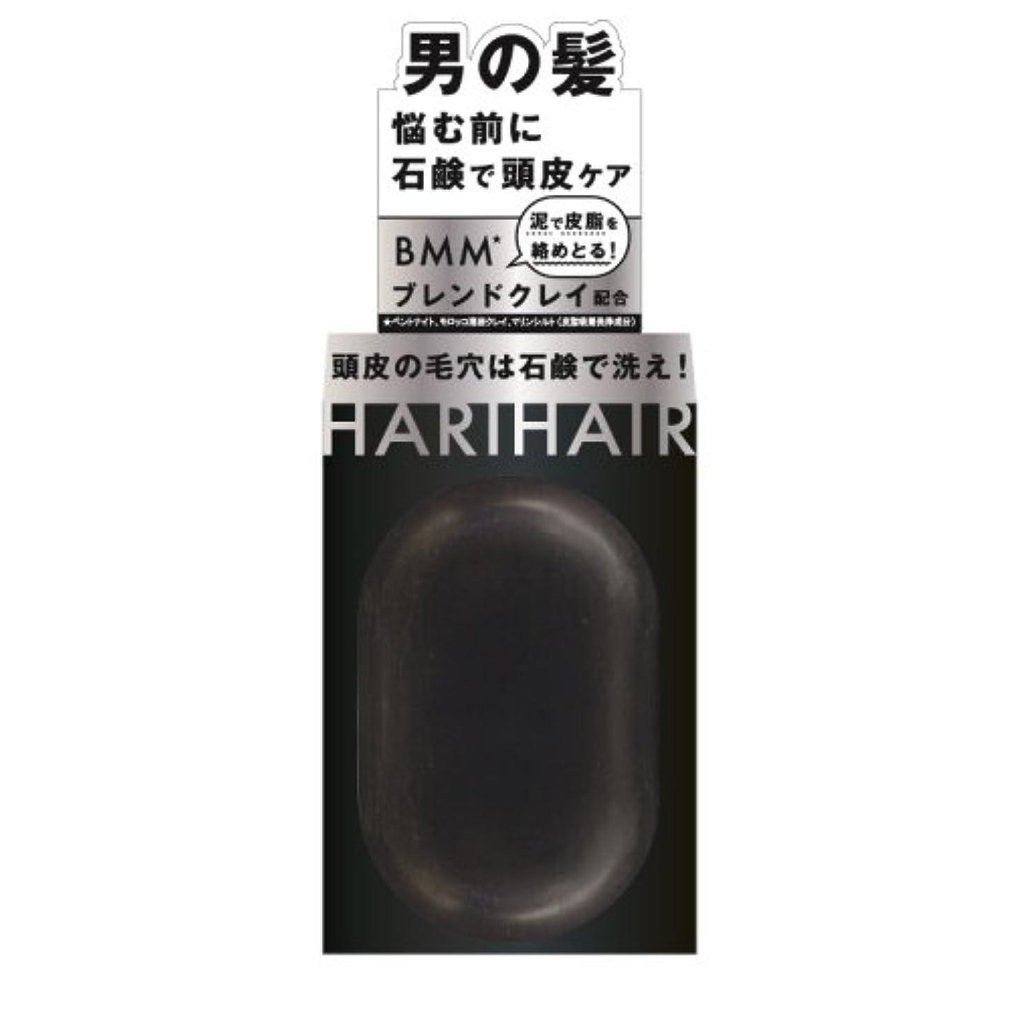 酔っ払い乱す数字ペリカン石鹸 ハリヘア 固形シャンプー 100g