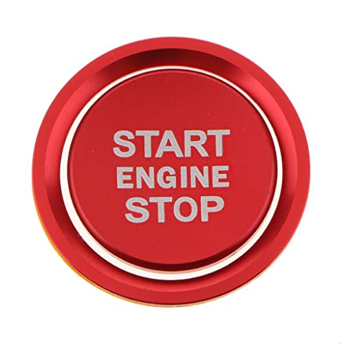 FLAMEER Motor Start Stop Zündung Druckschalter Tastenabdeckung Aufkleber Ring Set In 6 Farben - rot