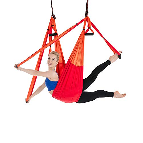 Best Buy! Gohbqany-SP Yoga Hammock Anti-Gravity Aerial Yoga Hammock Indoor Fitness Swing Yoga Hammoc...