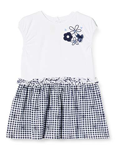 Chicco Abito Senza Maniche Vestido, Azul (BLU Bianco 080), 74 (Talla del Fabricante: 074) para Bebés