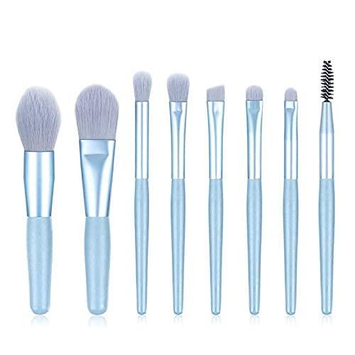 Conjunto de pincéis de maquiagem, cabo de madeira, portátil, macio, pó, sombra, blush, pincéis de beleza, maquiagem, cosméticos (tamanho : 2)
