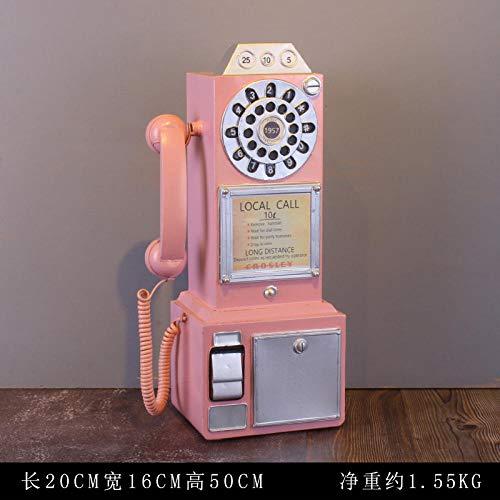 Retro Telefon Ornamente in London, UK europäischen Stil Dekorationen nach Hause Wandbehänge-Pink