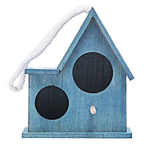 xiaokeai Jaula de Loros Loro Perla Pájaro Pájaro Jaula Suministros for Mascotas Creativas Número pequeño Marrón Jaula de pájaros (Color : Blue, tamaño : S)