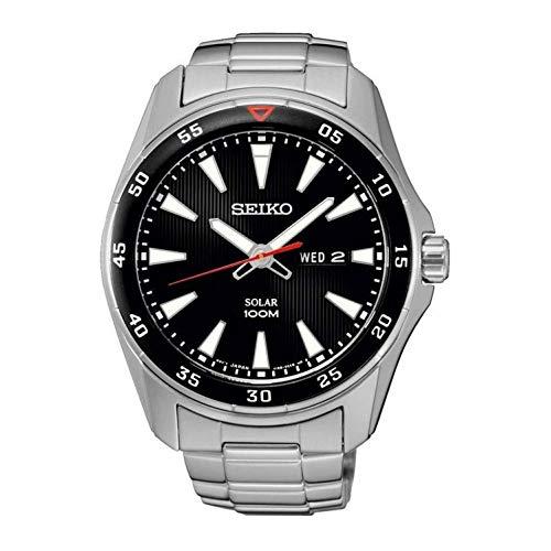 Horloge Seiko Solar Sne393p1 heren zwart