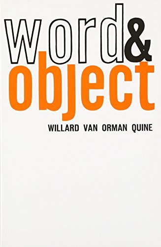 Word and Object (MIT Press) by Willard Van Orman Quine (1964-03-15)
