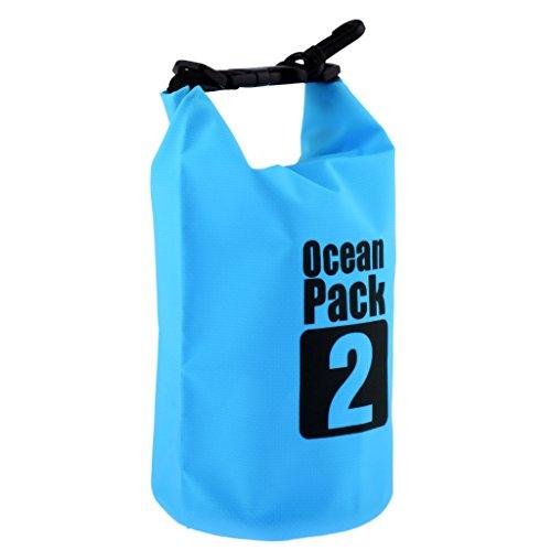 D DOLITY Impermeable Pack Saco Outdoors Dry Bag–Petate seco Funda Supervivencia Bolsa Roll Bolsas Pack Funda para Camping Barco Conducción Kayak Rafting Pesca Nadar, Azul