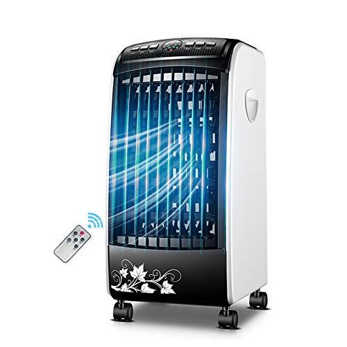 FUFU Climatizadores evaporativos Enfriador de Aire evaporativo Enfriador de Ventilador y humidificador con Ventilador de Aire Acondicionado Remoto, 3 velocidades, 3 Modos, oscilación de 60 ° for Sala
