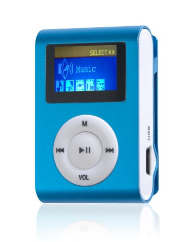 Difrnce MP855 Clip MP4-Player 4GB (2,8 cm (1,1 Zoll) Display) blau
