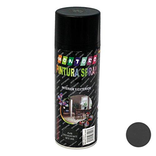 Montoro - Bote de Pintura en Spray Gres Negro Mate A48 400 ml