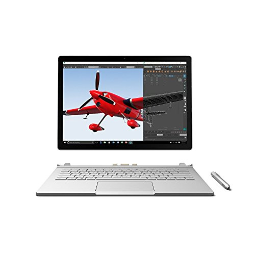Microsoft Surface Book 512GB Intel Core i7-6600U X2 2.6GHz 13.5', Silver (Renewed)