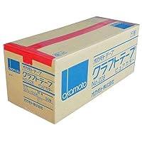 オカモト クラフトテープ ピュアカラー No.228 赤 巾50mm×長さ50m×厚さ0.14mm 50巻入×1ケース