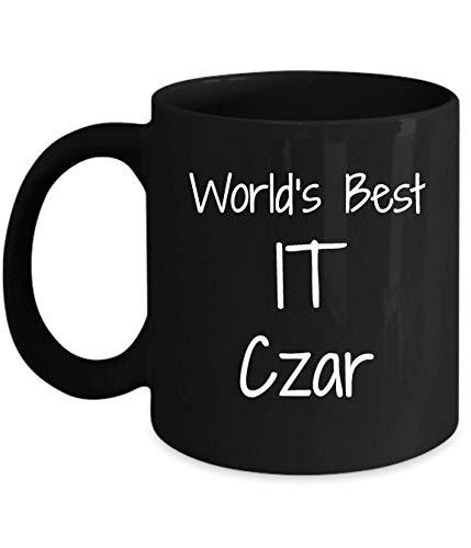 N\A Gift for it zar - World 's Best - Fun Novedad Idea de Regalo café Taza de té Regalos Divertidos cumpleaños Navidad Aniversario Agradecimiento Taza Negra