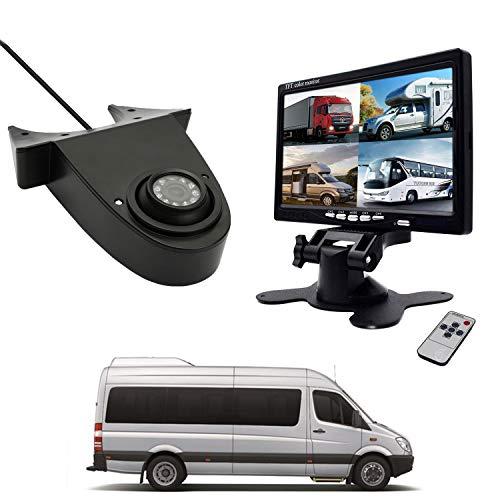 """CICMOD Rückfahrkamera mit 7\"""" TFT LCD Monitor Nachtsicht Auto Rückfahrkamera Set für Mercedes Benz Sprinter Crafter Transit Ducato Transporterkamera Rückfahrsystem"""