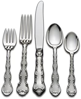 Gorham Strasbourg 5-Piece Sterling Silver Flatware Place Set, Service for 1