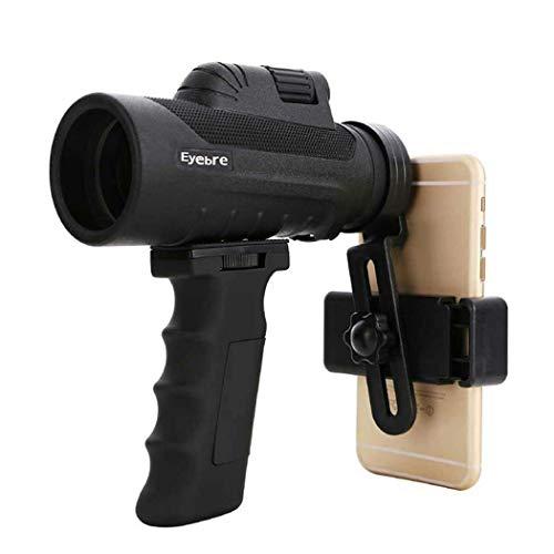YUQIYU Monocular, Prisma monocular Alcance, Mano Focus, a Prueba de Agua Alcance de Alta Potencia Spotting, Totalmente versátil Recubierto Clip Teléfono Vidrio óptico de la Lente + + Grip, 12X50