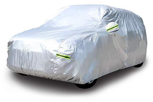 Amazon Basics – Wetterfeste Auto-Abdeckung, silberfarben, 150-D-Oxford, SUVs bis 550cm