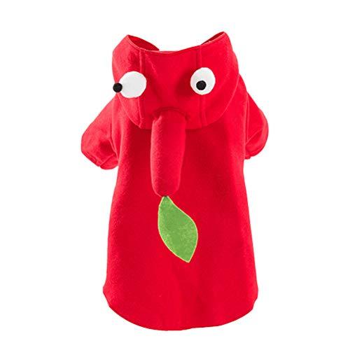 Disfraz de gato para Halloween Mascotas Disfraces Dibujos Animados Rojo Pimiento Mascota Ropa Otoo Invierno Creativo Mascotas Disfraces Clidos para Perro Gato Tamao Rojo