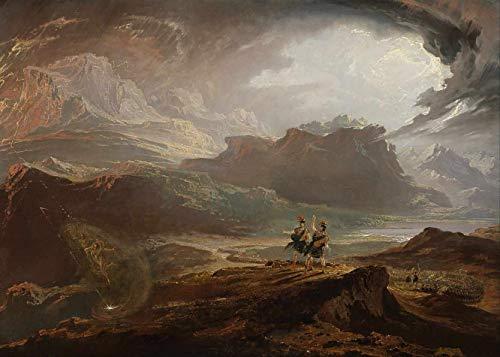 Macbeth (1818) de John Martin - 75x105 - Tela Canvas Para Quadro