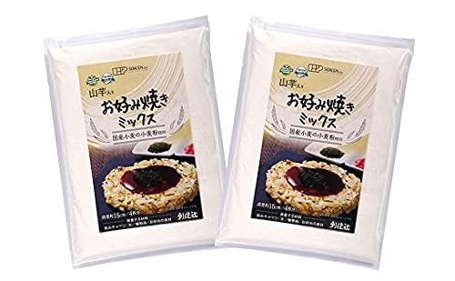 無添加 山芋入りお好み焼きミックス 200g×2袋 ★ ネコポス ★ 国内産原料100%の原料のみで作った純植物性のお好み焼きミックスです。小麦澱粉、山芋粉、昆布粉末を加えました。動物性原料、食塩不使用。直径約15cm4枚分。