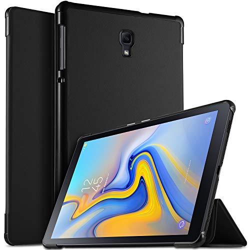 ELTD Funda Carcasa para Samsung Galaxy Tab A 10.5 SM-T590/T595, Ultra Delgado Silm Stand Función Fundas Duras Cover para Samsung Galaxy Tab A SM-T590/SM-T595 10.5 2018,(Negro)