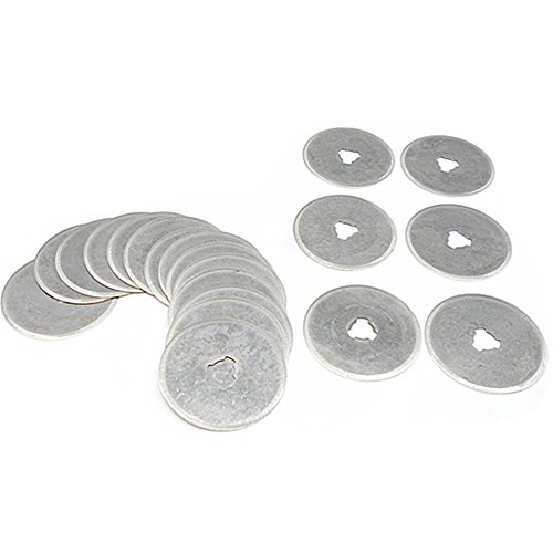 20 Pcs 28mm Rotary Blades Cutters Fabric Paper Circular Cut Patchwork Leather Craft